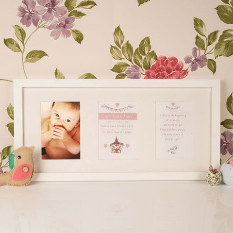 Bespoke Wall Mounted Baby Christening Frame: Church Design