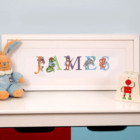 Illustrated Childs Phonetic Name Frame: STANDARD | ShaneToddGifts.co.uk