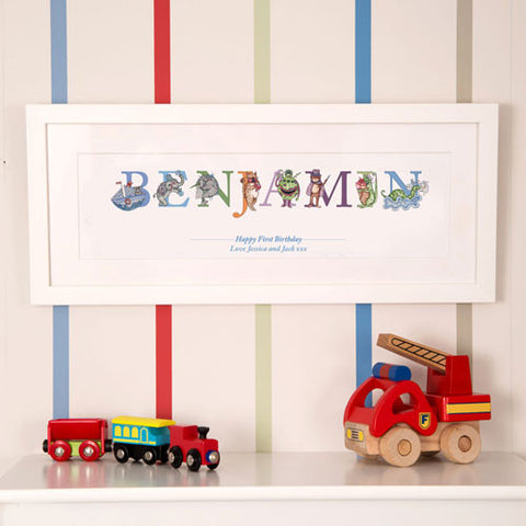 BUY First Birthday Phonetic Illustrated Name Frame