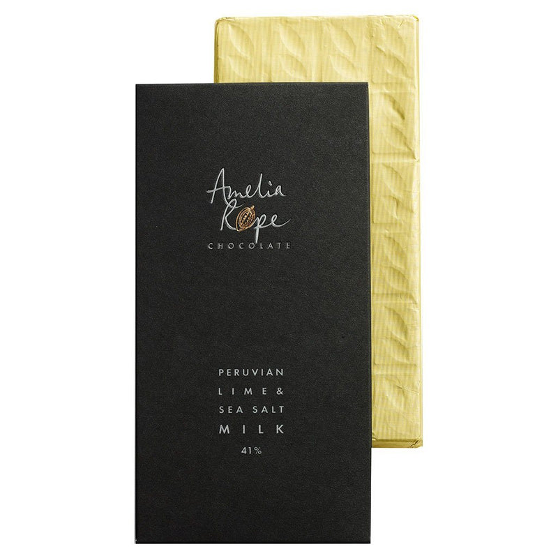 Peruvian Lime and Sea Salt Milk Chocolate Bar 41%