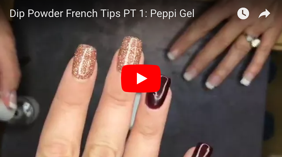 FRENCH TIP DIP POWDER: PEPPI GEL