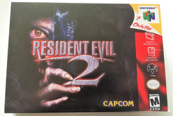 Resident Evil 2 (Nintendo 64 / N64) - Reproduction Video Game Cartridge with Universal Game Case and Glossy Manual - CrebbaTECH