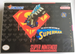 The Death and Return of Superman (Super Nintendo, SNES) - Reproduction Video Game Cartridge with Universal Game Case and Manual - CrebbaTECH