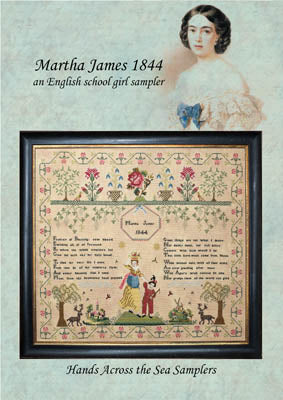 Martha James 1844 - Hands Across the Sea Samplers