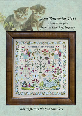 Jane Banister 1855 - Hands Across the Sea Samplers
