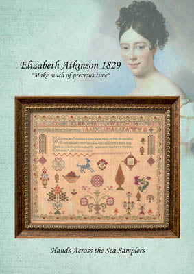 Elizabeth Atkinson 1829 - Hands Across the Sea Samplers