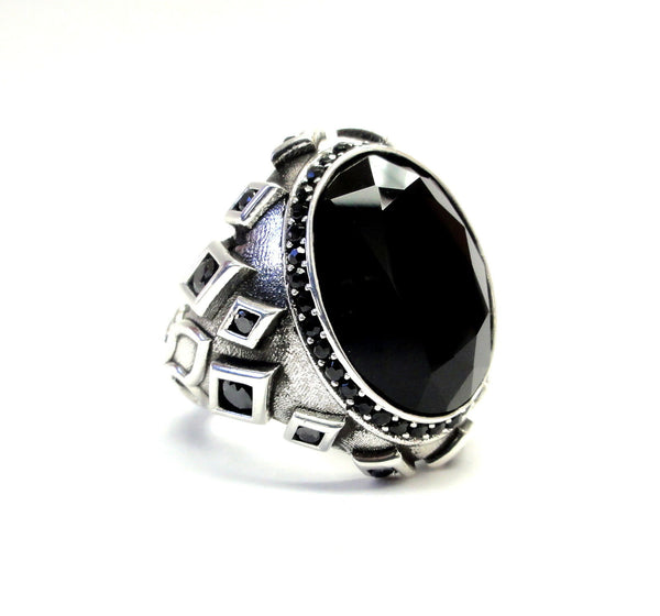 Men's Black Diamond Sultan Ring By Sacred Angels