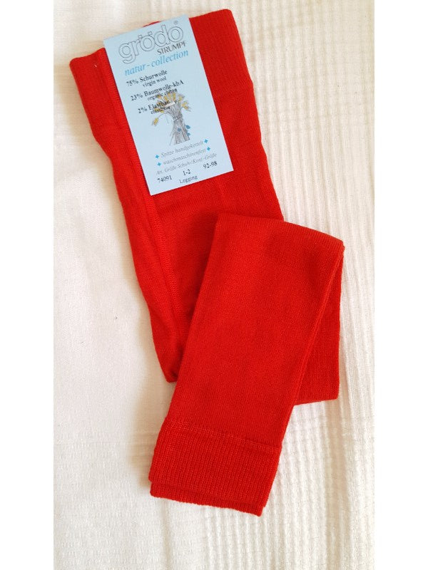 Merino Wool Leggings red