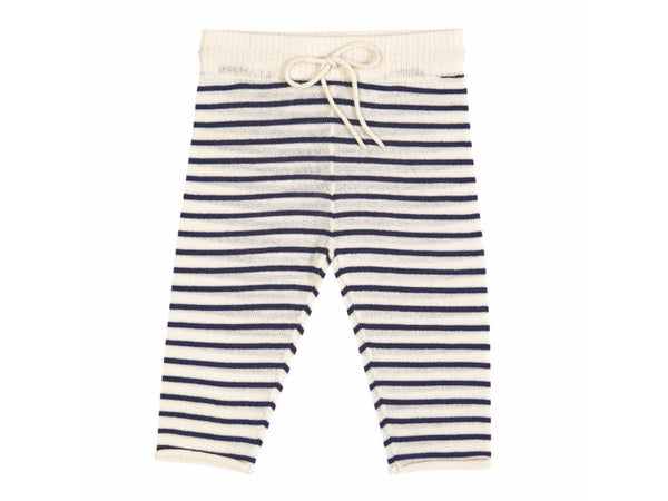 Baby Straight Pants Ecru/Navy