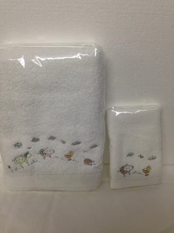 Baby Farm Animal Towel