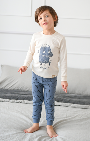 Rain Monster Boys Organic Pajamas