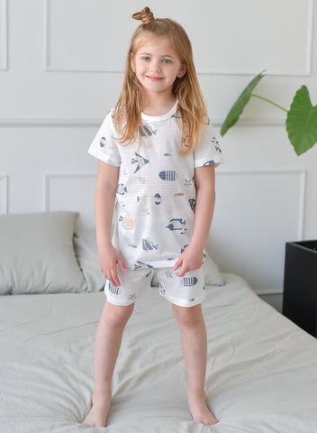 Aquarium Girls Organic Short Pajamas