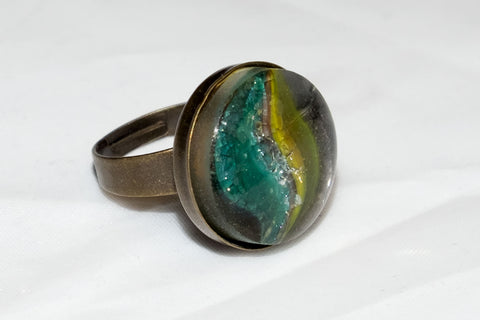 Recycled marble ring
