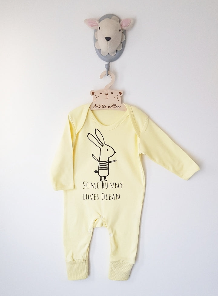 Custom - Some Bunny loves me - Lemon - loungewear