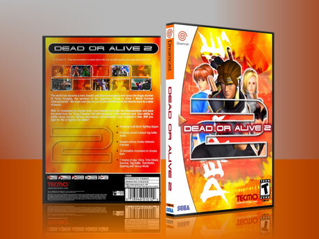 Sega Dreamcast Dc REPLACEMENT GAME CASE for Deadoralive2 8