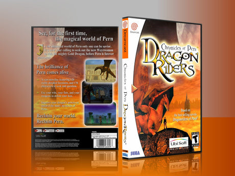 Sega Dreamcast Dc REPLACEMENT GAME CASE for Dragonriderschroniclesofpern