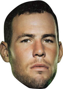 Mark Cavendish Cycling Celebrity Face Mask FANCY DRESS HEN BIRTHDAY PARTY FUN STAG DO HEN