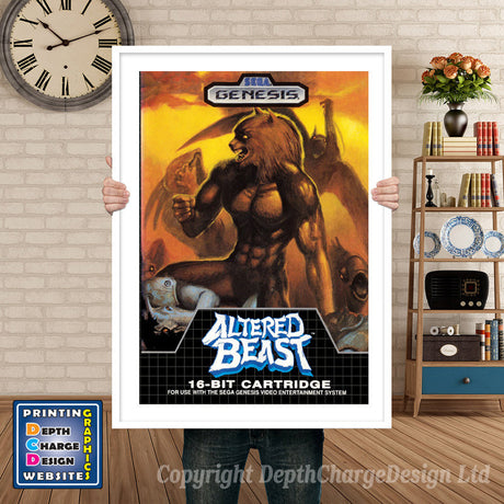 Altered Beast - Sega Megadrive Inspired Retro Gaming Poster A4 A3 A2 Or A1
