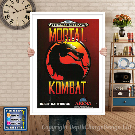 Mortal Kombat Pal - Sega Megadrive Inspired Retro Gaming Poster A4 A3 A2 Or A1