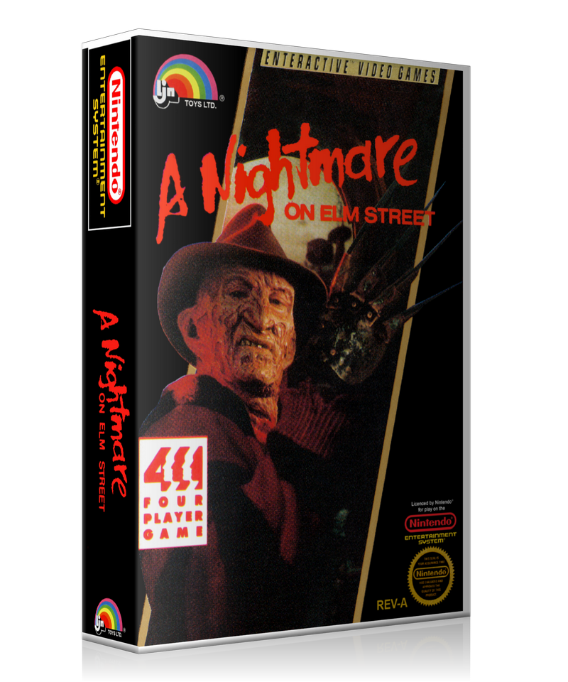 NES A Nightmare On Elm Street Retail Game Cover To Fit A UGC Style Replacement Game Case