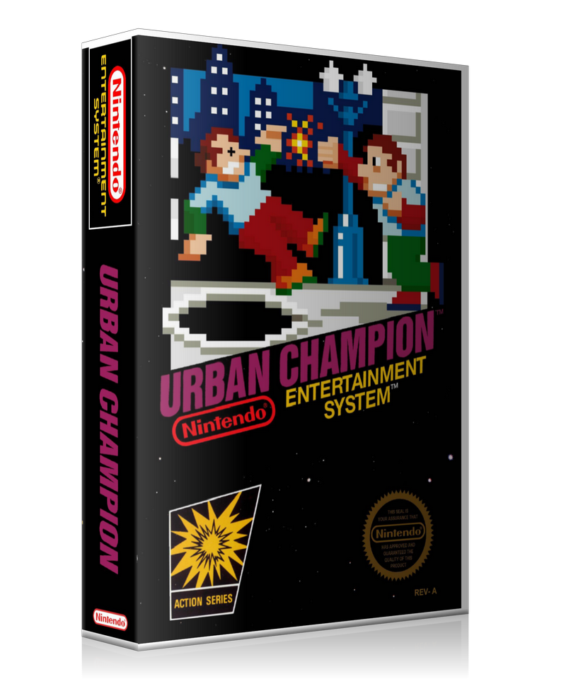 NES Urban Champion Retail Game Cover To Fit A UGC Style Replacement Game Case