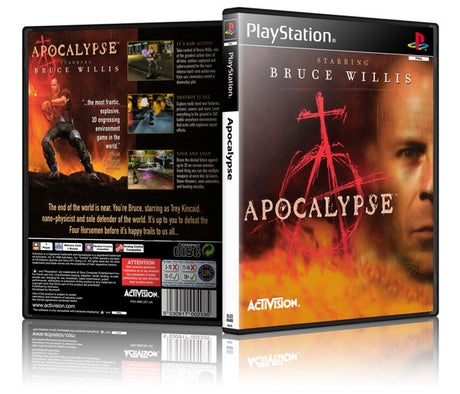 Apocalypse Game Cover To Fit A PS1 PLAYSTATION Style Replacement Game Case