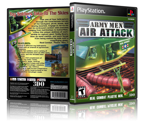 Army Men Air Attack Game Cover To Fit A PS1 PLAYSTATION Style Replacement Game Case