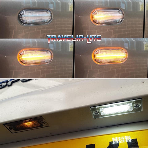 Dynamic Side Repeaters & Led License Plate Units. Transporter & Caddy