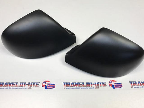 T5.1 T6 Black Texture Mirror Covers / Caps Pair