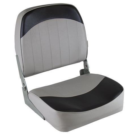 Wise 8WD734PLS-664 Low Back Boat Seat - Grey / Charcoal