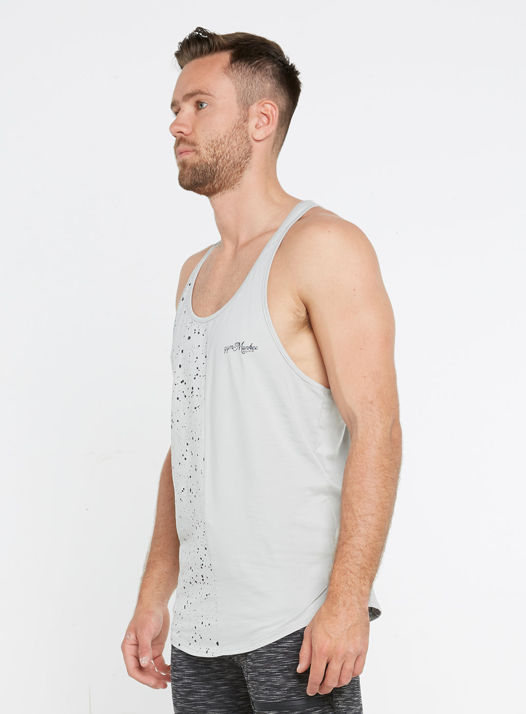 Gym Monkee - Grey Speckled Vest LEFT