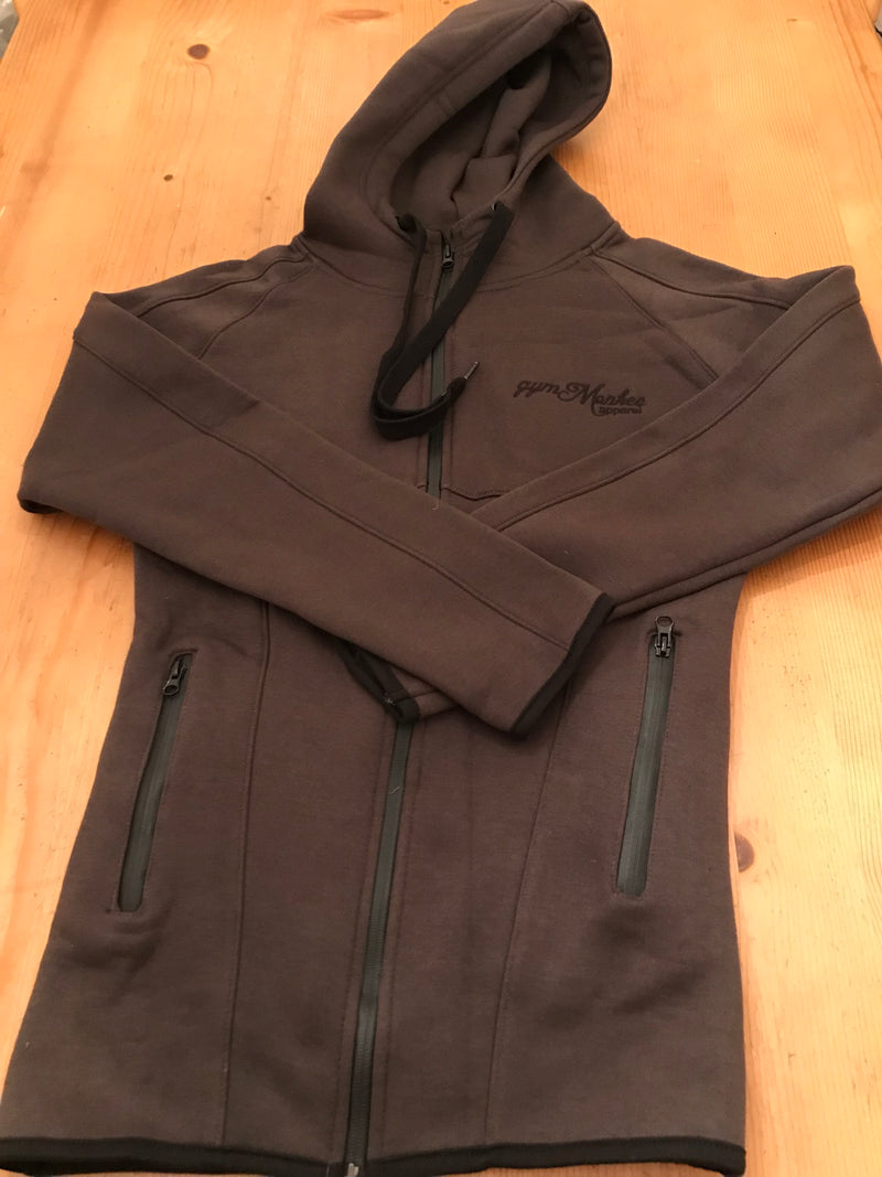 Gym Monkee - Charcoal Zipped Hoodie