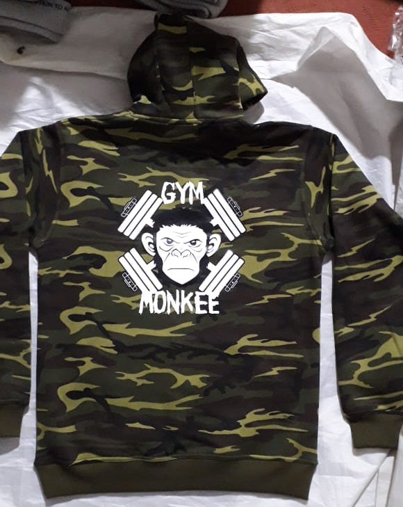 Gym Monkee - Camo Bold Hoodie REVERSE
