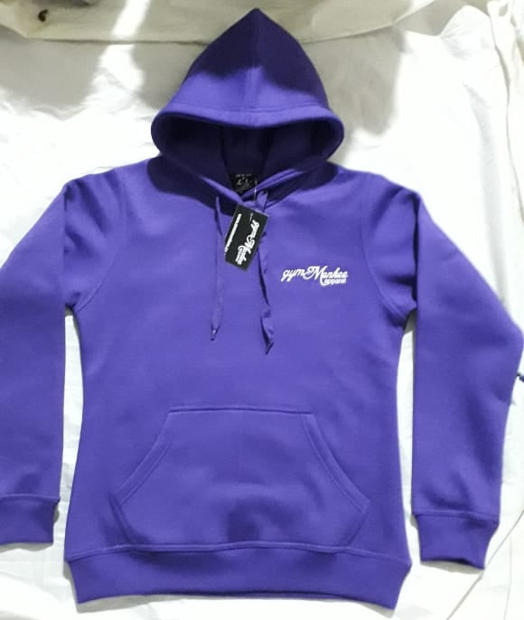 Gym Monkee - Purple Bold Hoodie FRONT