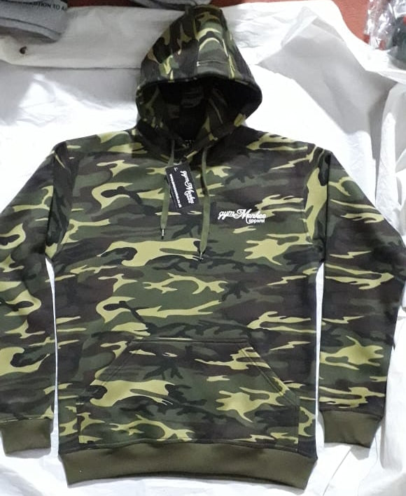 Gym Monkee - Camo Bold Hoodie FRONT