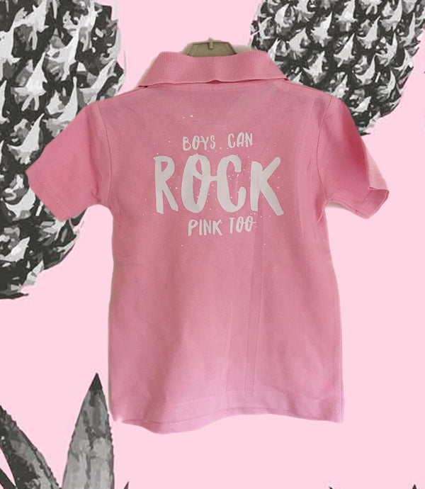 Boys can ROCK pink too...