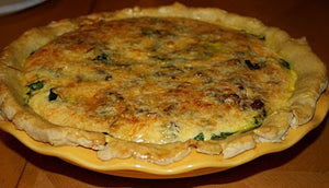 Bacon, Cheddar Spinach Quiche