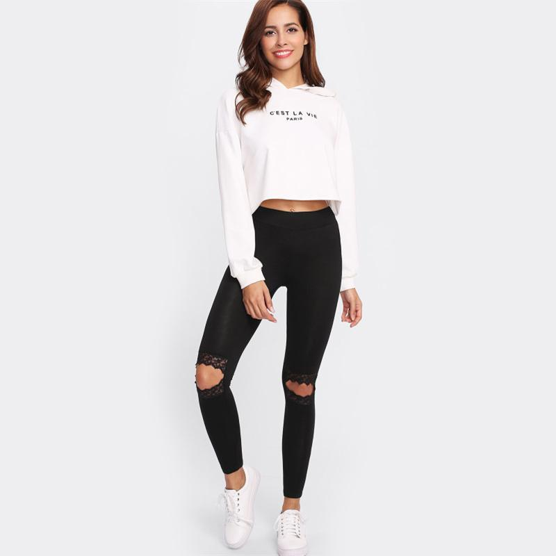 Knee Cut Out Legging