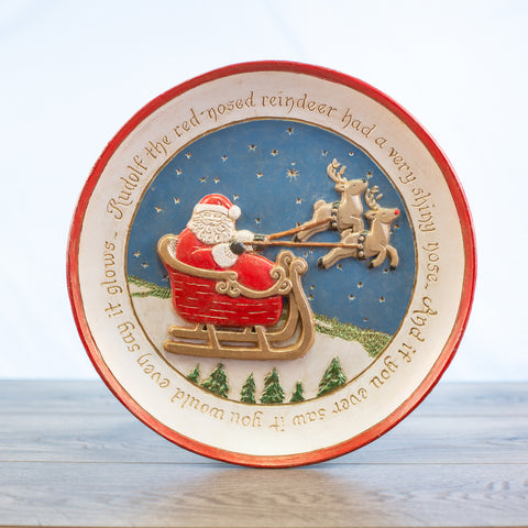 Comfort Bowl with Santa Sleigh and Reindeer