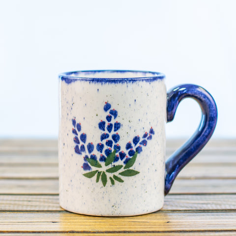 Ceramic Mug with Bluebonnets Design
