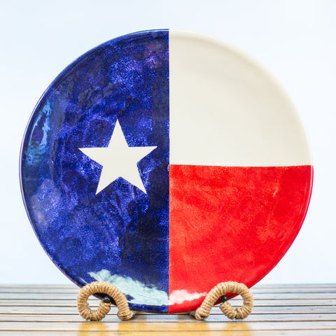 Pasta Platter with Texas Design