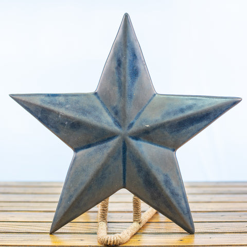 Blue Ceramic Texas Star