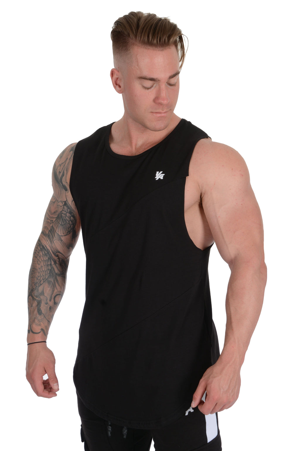 YoungLA Elongated Muscle Cut-Off Bodybuilding Tanks 306