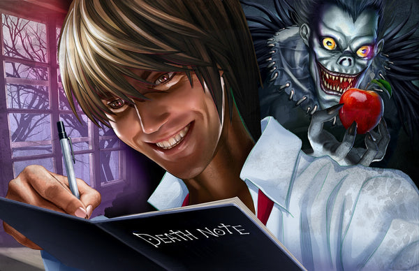 Deathnote - Just scribblin' - high quality 11 x 17 digital print