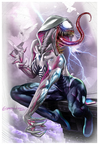 Edge of Venomverse - White Gwenom! - Limited Lithograph