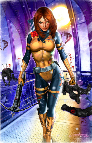 G.I. JOE - Scarlett Gets Straight to the Point - high quality 11 x 17 digital print