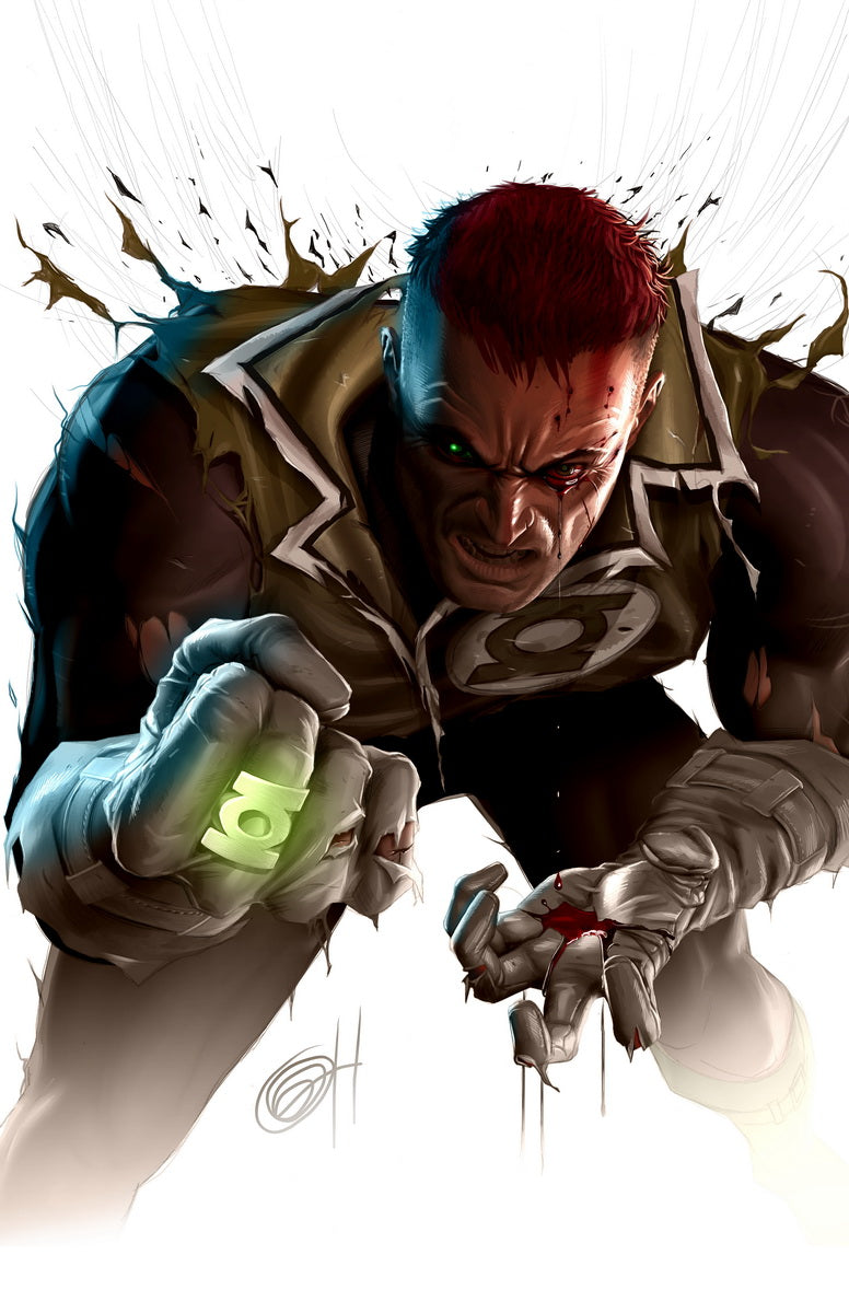Blackest Night: Guy Gardner - high quality 11 x 17 digital print