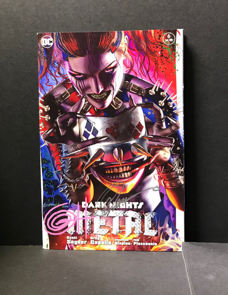Dark Night Metal 6 - ComicXposure Greg Horn Art Variant - Signed by Greg Horn and Greg Capullo
