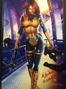 G.I. JOE - Scarlett Gets Straight to the Point - high quality 11 x 17 digital print Signed by Greg AND B.J. Ward.