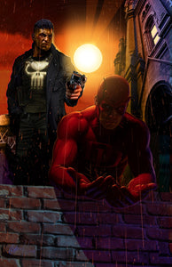 Punisher and Daredevil - high quality 11 x 17 digital print